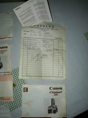 camara canon canonet