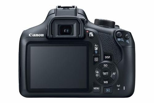 cámara canon eos 1300d rebel t6kiss x80 + lentes 18- 18-55mm