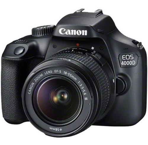 camara canon eos 4000d- rebel t100+18-55+32gb+bolso+kit+trip