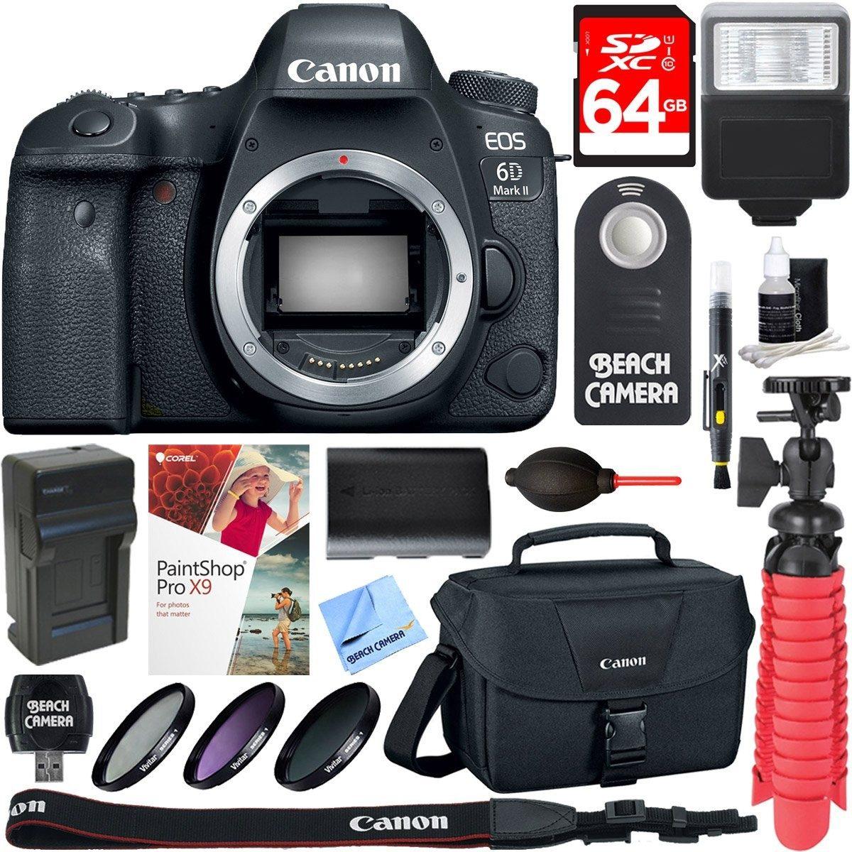 Camara Canon Eos 6d Mark Ii 26.2mp Full-frame Digital Sl 830 ...