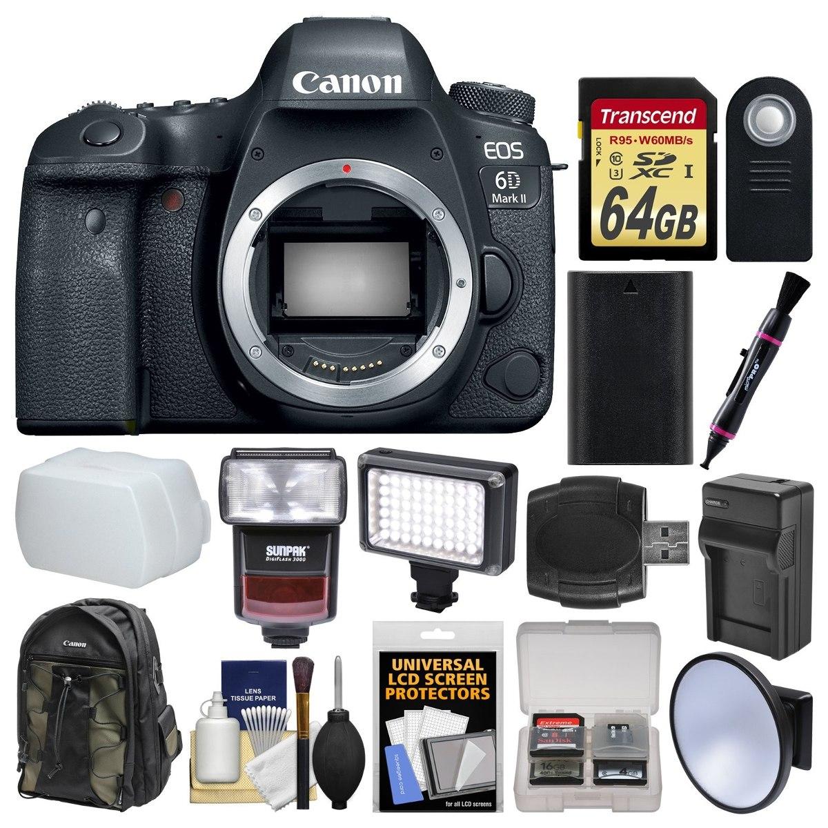 Camara Canon Eos 6d Mark Ii Wi-fi Digital Slr Camera Bod 870 ...