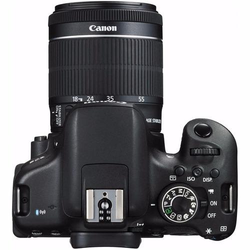 cámara canon eos 750d/t 6i/kiss x8i + lentes 18-55 mm stm