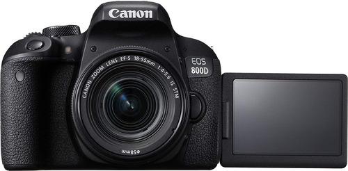 cámara canon eos 800d digital slr with 18-55 is stm