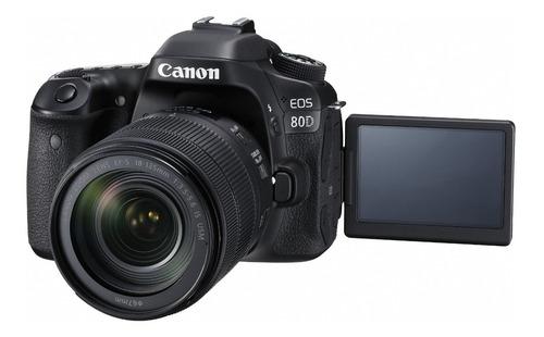 camara canon eos 80d c/ lente ef 18-135 is nano usm
