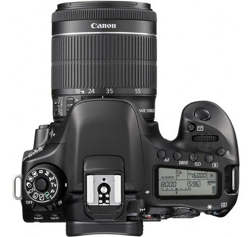 cámara canon eos 80d + lente 18-55mm ef-s f/3.5-5.6 nuevo