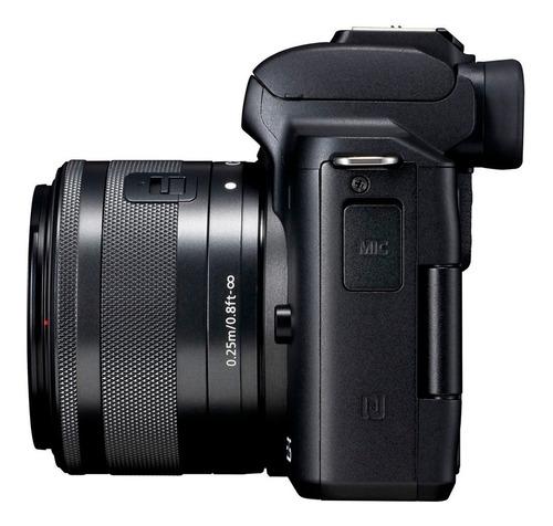 cámara canon eos m50 24 mpx kit 15-45mm vídeo 4k.