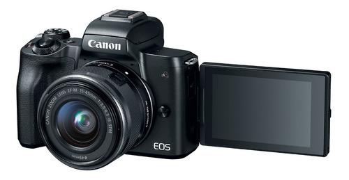 camara canon eos m50 c/ lente ef 15-45 is stm mirrorless