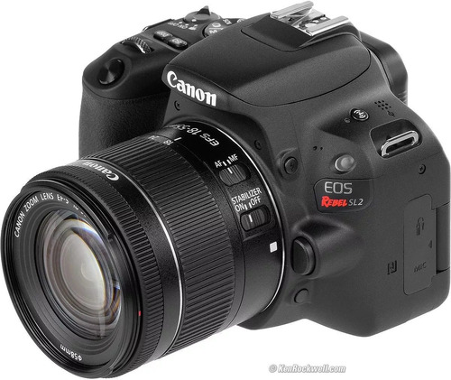 camara canon eos rebel sl2 lente 18-55 is