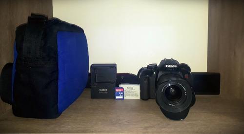 cámara canon eos rebel t4i con lente 18-55 mm