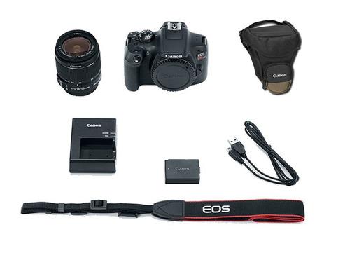 cámara canon eos rebel t6 18mp wifi lente 18-55mm funda