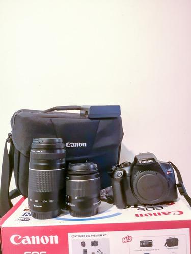 cámara canon eos rebel t6 - 2 lentes (18-55 y 75-300mm)
