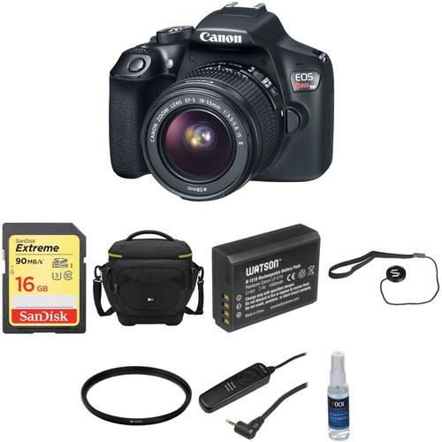 cámara canon eos rebel t6 con 18-55mm lente básico kit