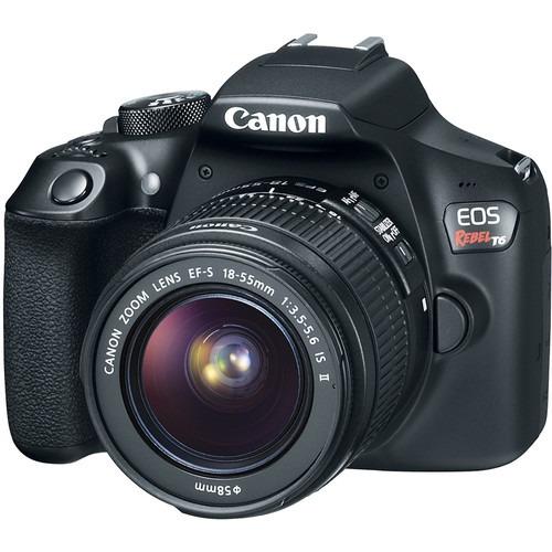 cámara canon eos rebel t6 con 18-55mm lente kit