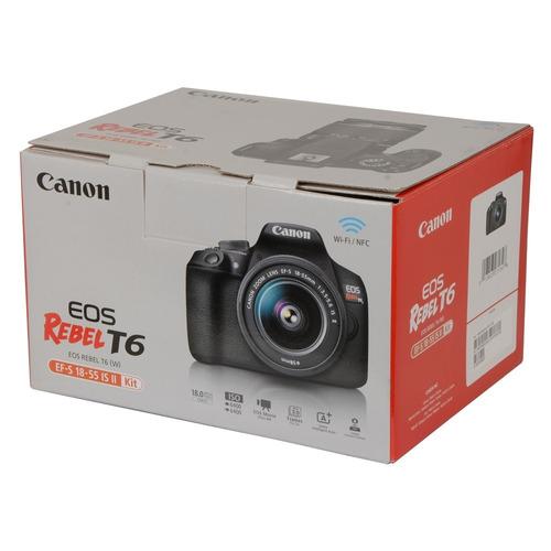 cámara canon eos rebel t6 + ef s18-55 + ef 75-300 + obsequio