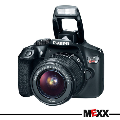 camara canon eos rebel t6 full hd + micro sd 32gb  mexx 3