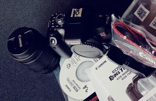 cámara canon eos rebel t6i c/lente 18-55 sin usar c/garantía