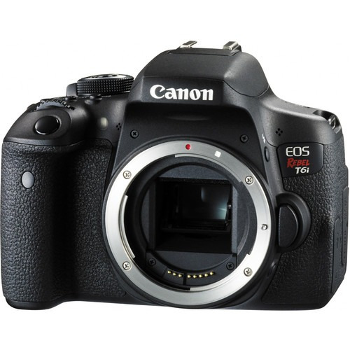 cámara canon eos rebel t6i con 18-55mm f/3.5-5.6 is ii lente