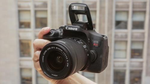 camara canon eos rebel t6i + lente 18-55  wi-fi® y nfc