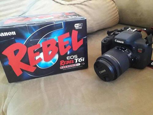 cámara canon eos rebel t6i nuevo