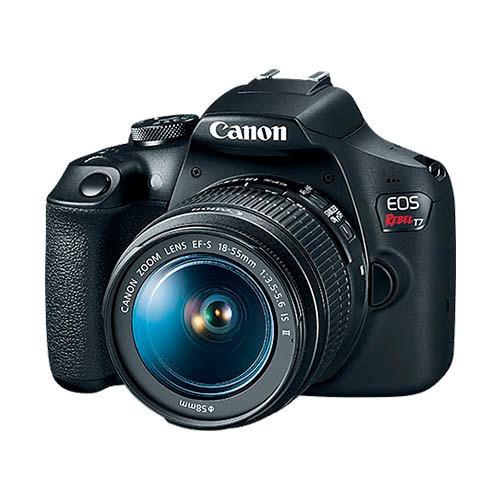 cámara canon eos rebel t7 ef 18-55mm 24.2 mp +16 gb + tripie