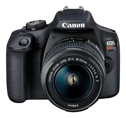 camara canon eos rebel t7  kit 18-55 is 24mp .