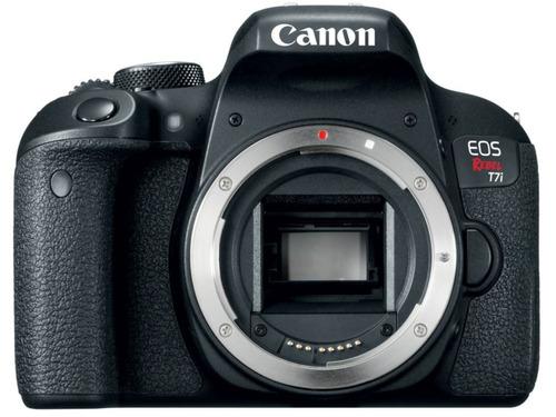cámara canon eos rebel t7i con lente ef-s 18-135mm is stm