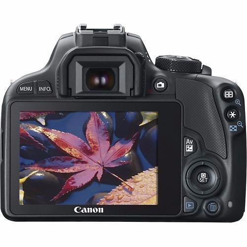 camara canon eos sl1 con lente 18-55mm 18mpx