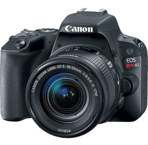 cámara canon eos sl2 con lente 18-55mm video fullhd 24 mpx