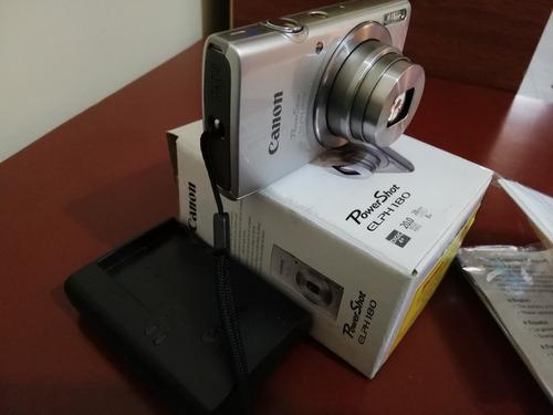 cámara canon powershot elph 180 plateada