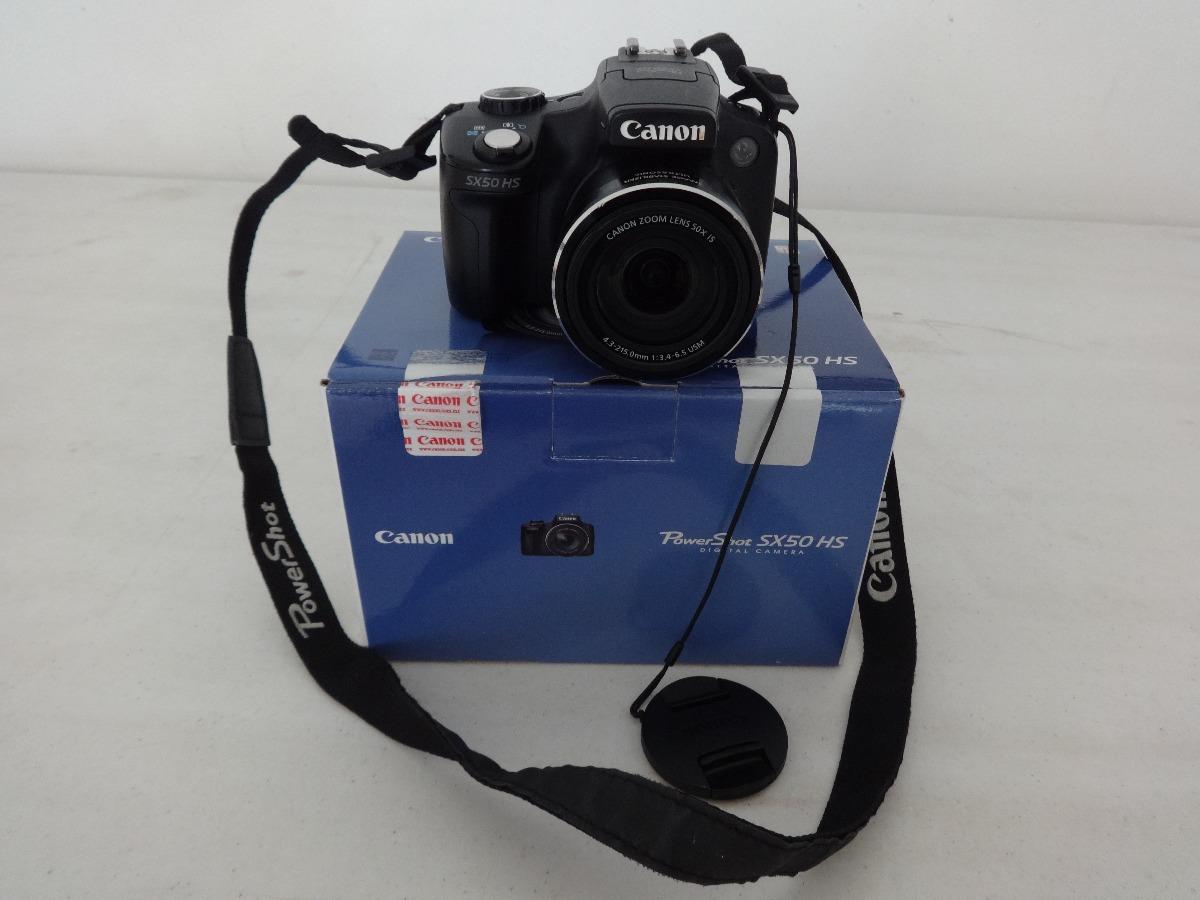 Cámara Canon Powershot Sx50 Hs Zoom 50x Optico 12.1 Megapíxe ...