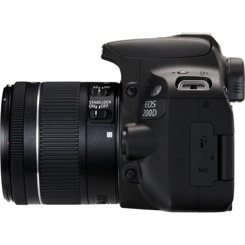 camara canon rebel sl2 eos 200d 18mp lente 18-55mm
