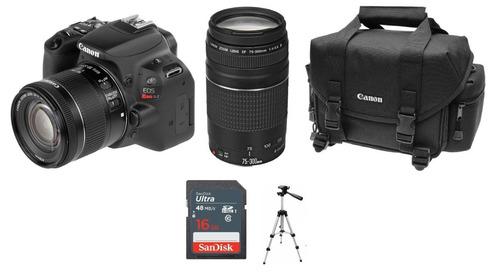 camara canon rebel sl2 kit 18-55 is + 75-300 + tripie nueva