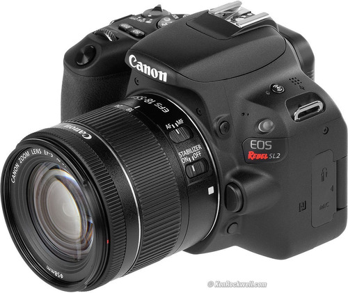 camara canon rebel sl2 kit 18-55 video full hd 60p + tripie