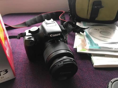 cámara canon - rebel t3 (kit con lente) - regalo bolso