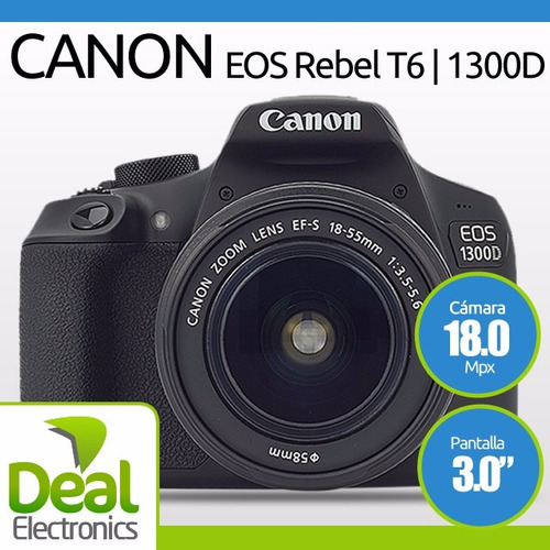 camara canon rebel t6 18mp+18-55mm