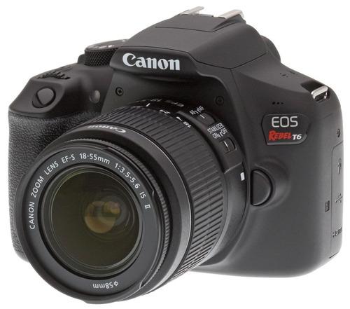 cámara canon rebel t6 + 2 lentes 18-55 y 55-250 + tripie