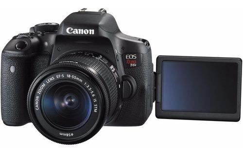 cámara canon rebel t6i 18-55mm stm nuevas miraflores