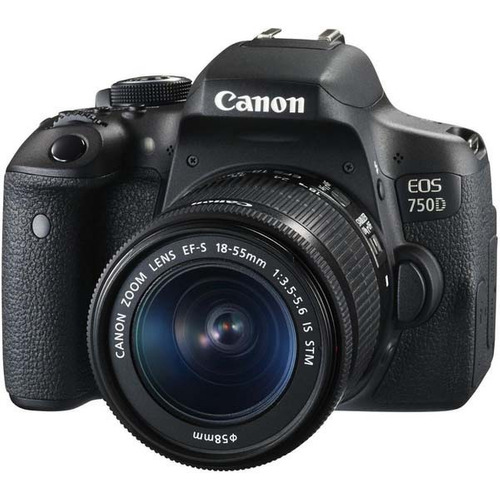 camara canon rebel t6i eos 750d 18-55 is 24mp