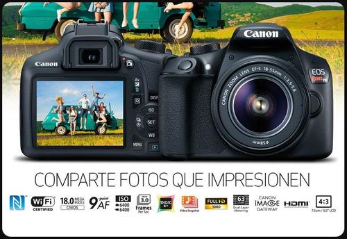 camara canon reflex rebel t6  lente 18-55 + tripie