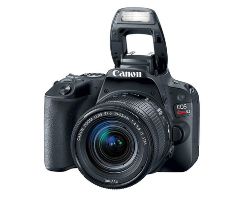 camara canon reflex  sl2 + lente 18-55 video full hd 60p