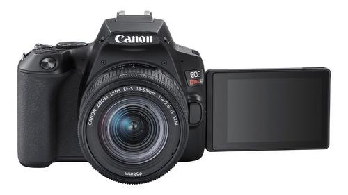 camara canon sl3 + lente 18- 55 is stm