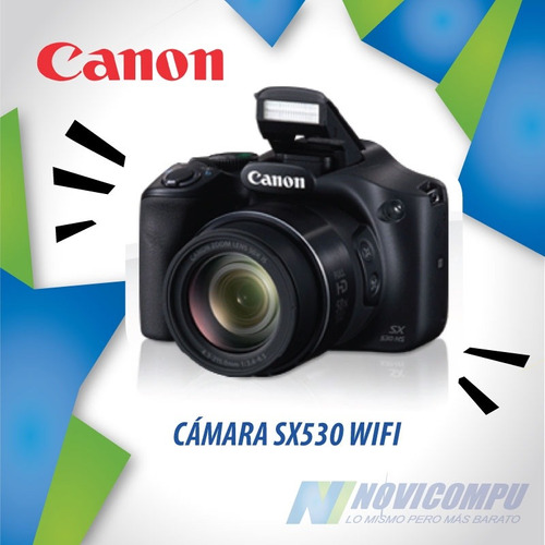 camara canon sx530 wifi - 100x zoom 16mpx hdmi gps full hd