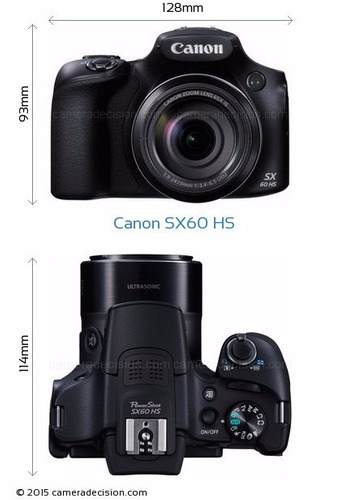 camara canon sx60 hs 16 mpx 65x zoom video full hd wifi