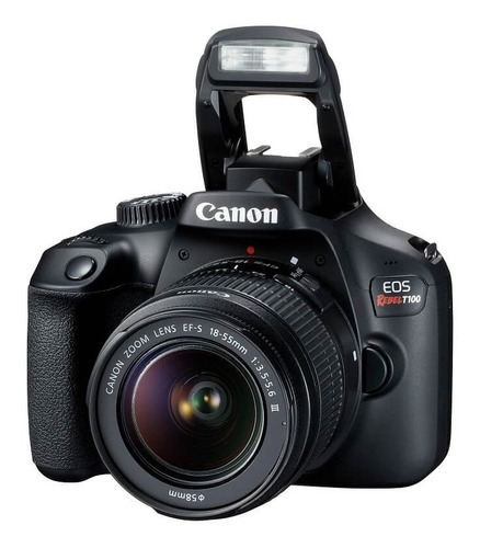camara canon t100 con lente 18-55mm 18mpx video fullhd wifi