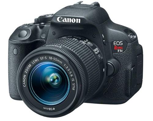 cámara canon t5i + 16gb + bolso