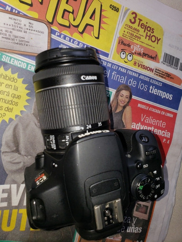 cámara canon t5i, zoom 18-55, stm, 1080p video
