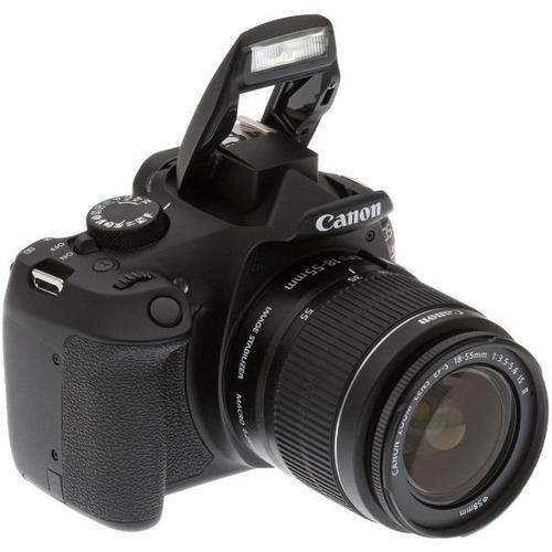 camara canon t6 reflex kit lente 18-55mm + bolso + 32gb c10