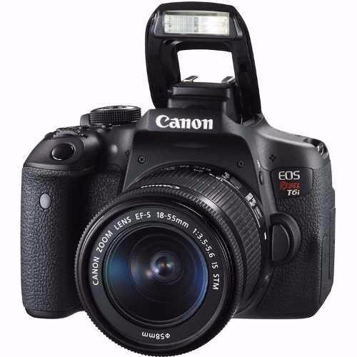 camara canon t6i 18-55 is stm 24.2 mpx lcd 3 full hd wifi.