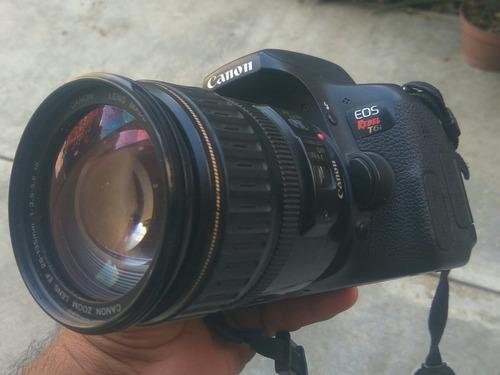 camara canon t6i / 2 lentes (kit y 50 mm) + maletín y sd 32g