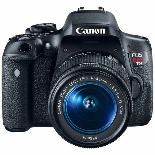 cámara canon t6i + lente canon 18-55 vr fotoaccesorios